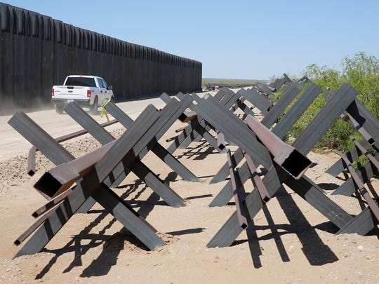Construction of a new $73 million bollard wall replaced a 20-mile portion of existing fence along the U.S.-Mexico border in Santa Teresa, New Mexico.