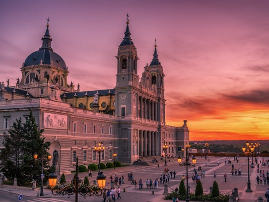 Madrid, Spain: the Cathedral of Saint Mary the Ryoal of La Almudena