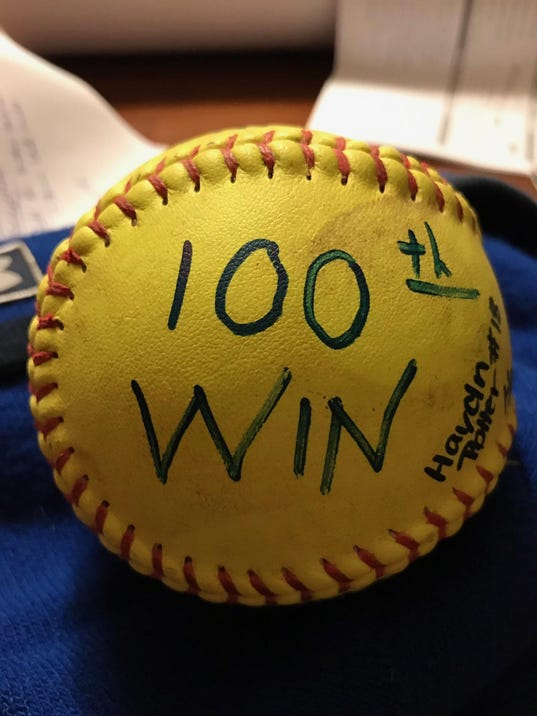 Lewistown 100 game ball