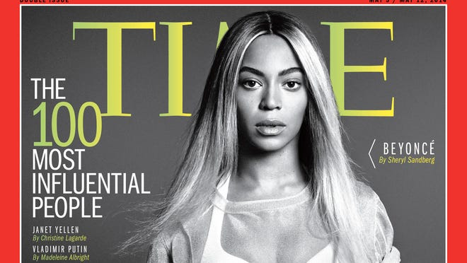 Beyonce is on the cover of 'Time' magazine's Time 100 issue.