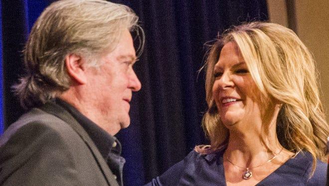 Alt-right guru Steve Bannon, former White House chief strategist,and Kelli Ward