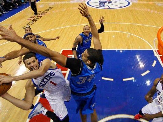 Mavericks 76ers Basketball