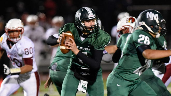 New Milford quarterback Ryan Picinic has thrown for 978 yards and nine touchdowns this season. The second-seeded Knights will play No. 1 Hasbrouck Heights in the North 1, Group 1 championship Sunday at MetLife Stadium.