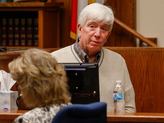 Jim Wood, the father of Craig Wood, testifies in court