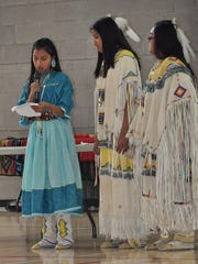 Sixth grade RMS Indian Princess nominee Destiny Riley.