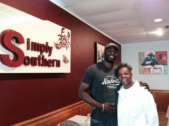 Rasheed Simmons and his mom Rita Simmons of Simply Southern Cuisine in Belmar.