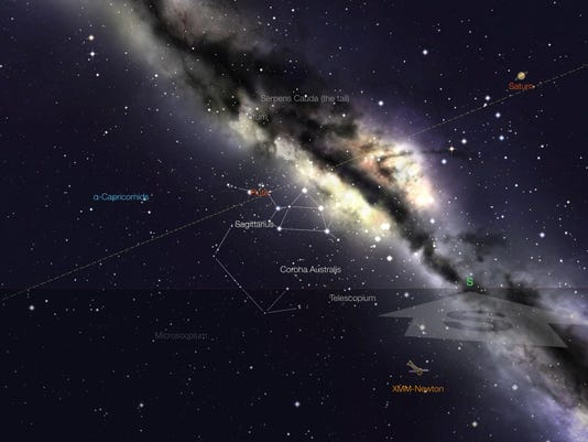Star Walk image of the location of Pluto