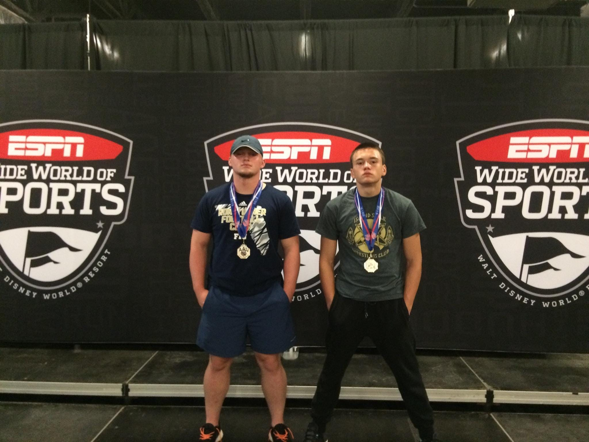 Leon wrestlers J.T. Grant (left) and Justin Grant (right) went a combined 17-2 at Disney Duals this past week. The brothers earned silver medal All-American honors