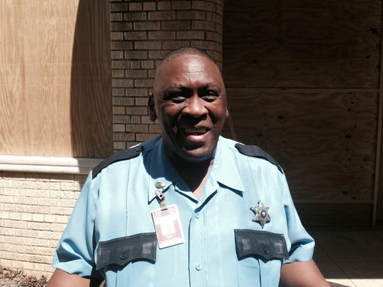 """Gary Schiele, a security guard at the Huey P. Long Medical Center building for 24 years, is happy the building is joining the National Register of Historic Places. """"I feel like this building is part of my life, I've been here so long,"""" he said."""