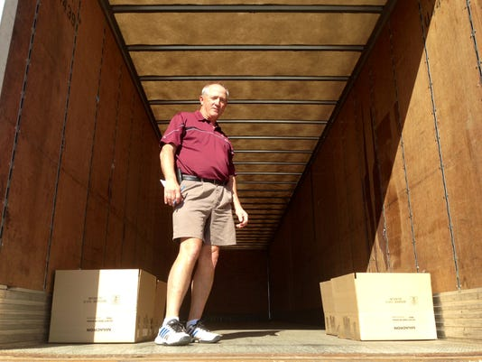Doug Arnold, owner of Crown Trophy in Hanover, hopes to fill this tractor trailer with food and drinks for emergency crews in Baltimore. The store is accepting donations at 905 Carlisle St. from 9 a.m. to 7 p.m. until April 30.