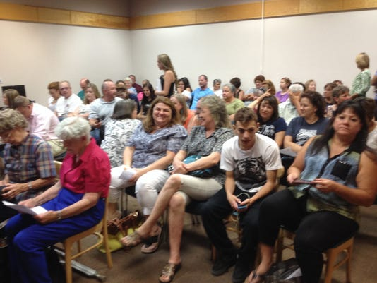It was standing room only Tuesday evening at the special Silver Consolidated Schools Board of Education meeting.