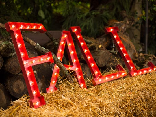 Lighted marquee letters are made from painted papier-mache. Use LED globe lights for an authentic look and to reduce fire hazards.