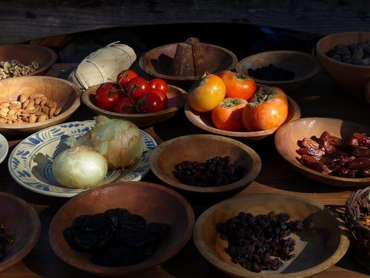 Food in preparation at Mission San Luis