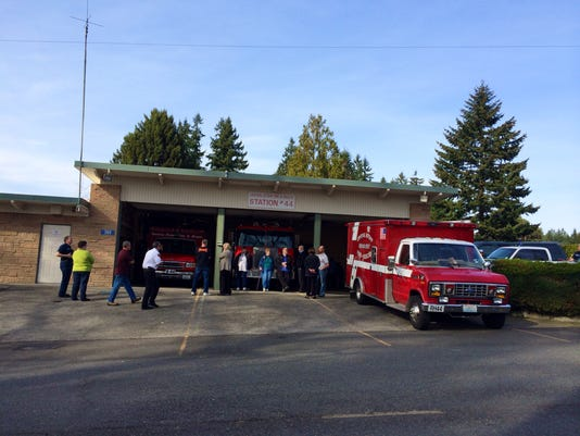 Central Kitsap Fire and Rescue is considering closing Station 44, on Tracy Street. Rachel Anne Seymour / Kitsap Sun