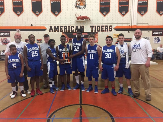 The Delaware School for the Deaf Boys Basketball team won second place in the Eastern Schools for the Deaf Athletic Association Division I tournament.