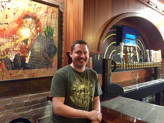 HopCat founder Mark Sellers at the Royal Oak location in 2017.