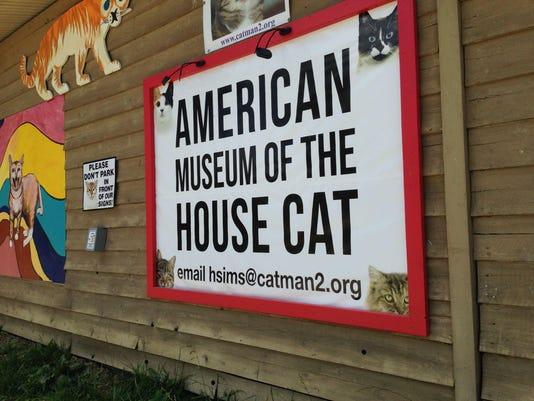 Cat museum sign art
