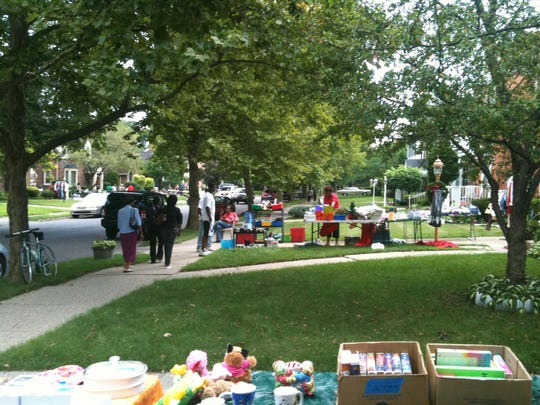 East English Village neighborhood garage sale