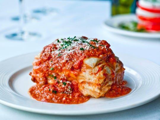 A lasagna from Andiamo Italia.
