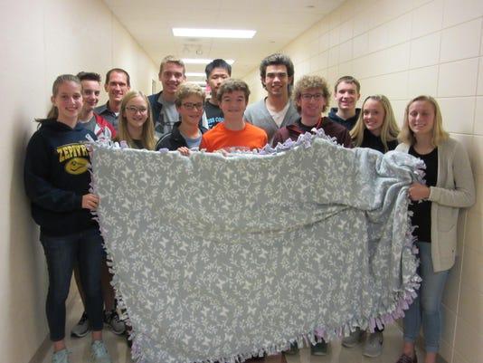SMCHS team blanket