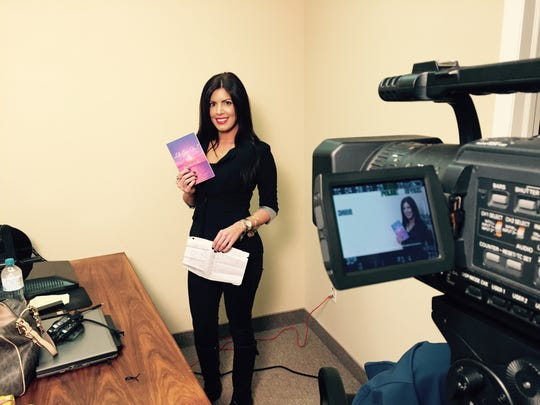Jenna Rose Lowthert records a segment for health and wellness website Pazoo.