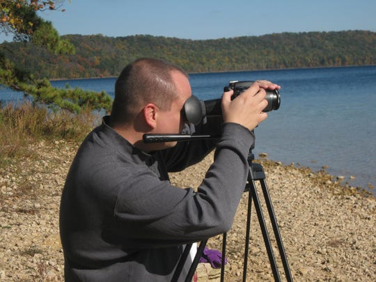 """Dave Kuznicki films """"The Town That Disappeared Overnight"""" at Round Valley Reservoir."""