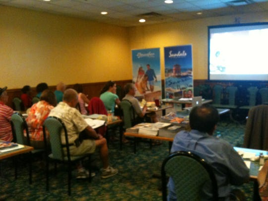 About four to five suppliers visit the Association of Home-Based Travel Agents at their monthly seminars.
