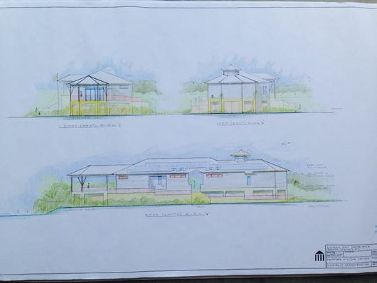 This rendering shows what the Lovers Key Visitor's Center will look like when complete.