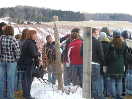 Hourly tours of the vineyard and winery are part of the festivities during the annual Frozen Tundra Wine Fest at Parallel 44 Vineyard & Winery.
