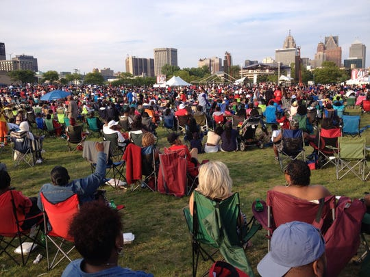 Fans gathered at West Riverfront Park in August as