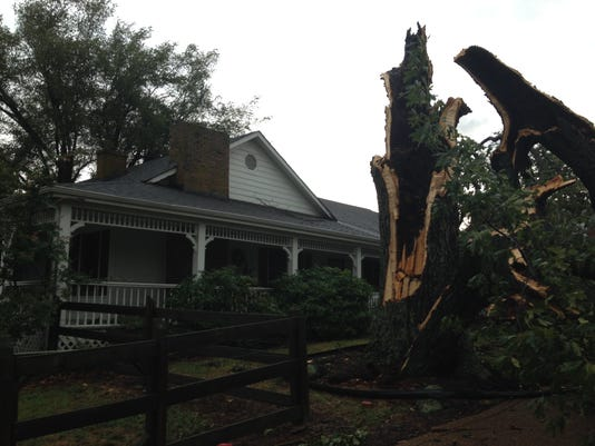House Damaged Car Flattened In Storm
