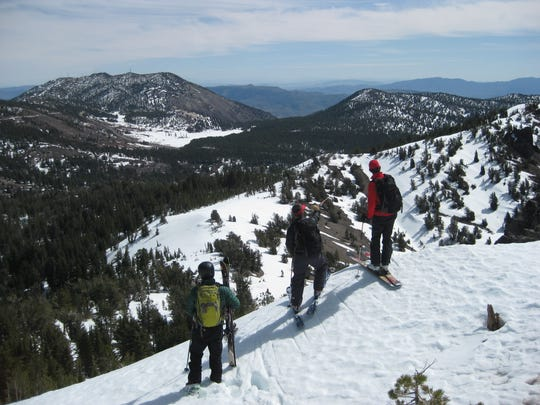Even during a drastic drought that's been coupled with high temperatures it's still possible to find spring snow in the Tahoe Basin, as shown in this photo from Rose Knob Jr., peak, elevation 9,700 feet.
