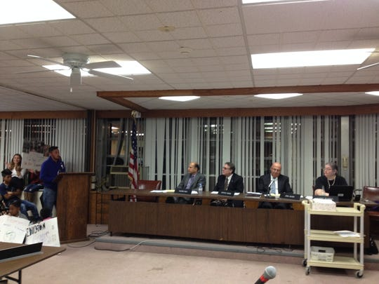 East Ramapo administrators react Tuesday as a young