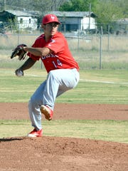 Loving senior pitcher Sonny Granado throws a pitch in game one Thursday at Bob Forrest Youth Sports Complex.