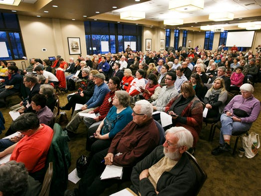 A packed house attended a meeting for the City of Salem's