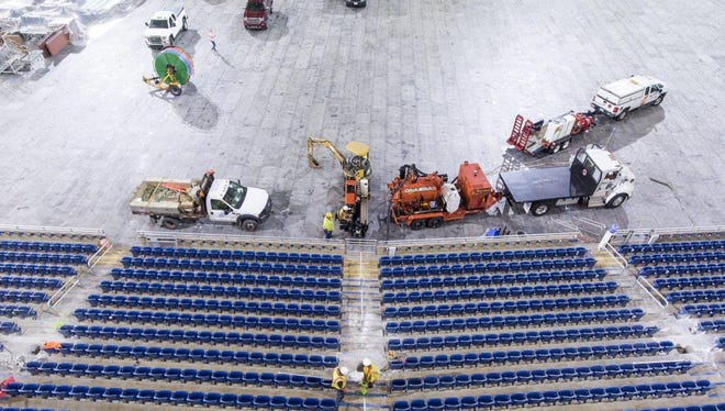 A new WiFi system is being installed at Ford Field.