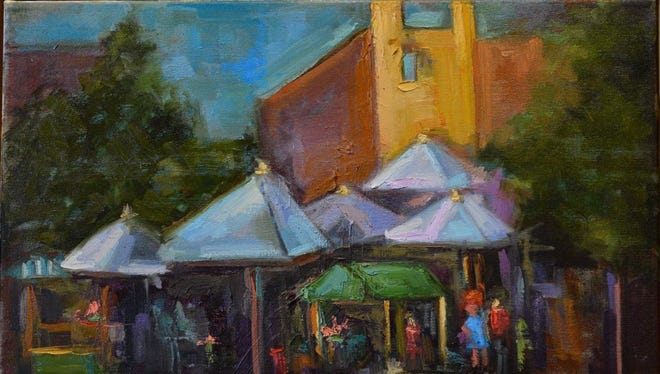 Enjoy the works of artist Vickie Milam during Tuesday's Palette to Palate Gallery Dinner at The Forum.