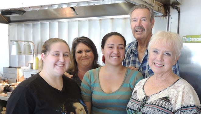 Owners Carole and Dennis Bartels, right, with Daelynne and Pam Silkwood and Sonya Bustillos.