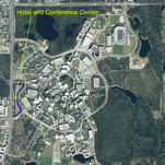 The 135-room hotel and convention center will be located on the northeast quadrant of Alafaya Trail and University Boulevard.