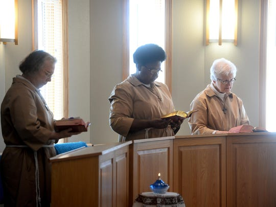 Sisters of the Poor Clares of Montana monastery hold their midday prayer on Monday. Built in 2005, it is the only monastery in the state. The Poor Clares focus on prayer as their service to the world, living by the tenants of poverty, chastity, obedience and enclosure.