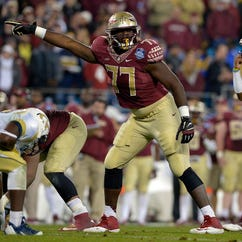 Florida State tackled Roderick Johnson (77) will be relied on heavily to stabilize a transitioning Seminoles offensive line.