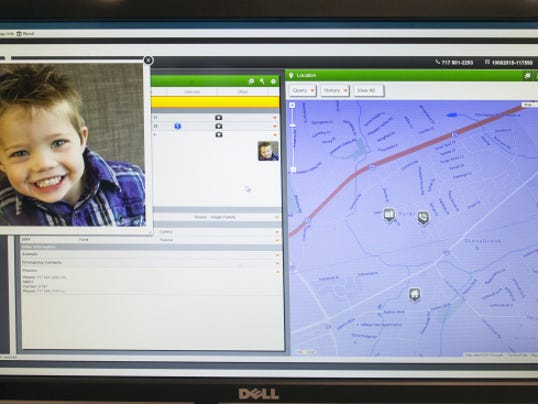 Users of Smart911 can upload photos of family members and pets to alert dispatchers and first responders who to look for during an emergency. A map pops up showing the residence and phone location.