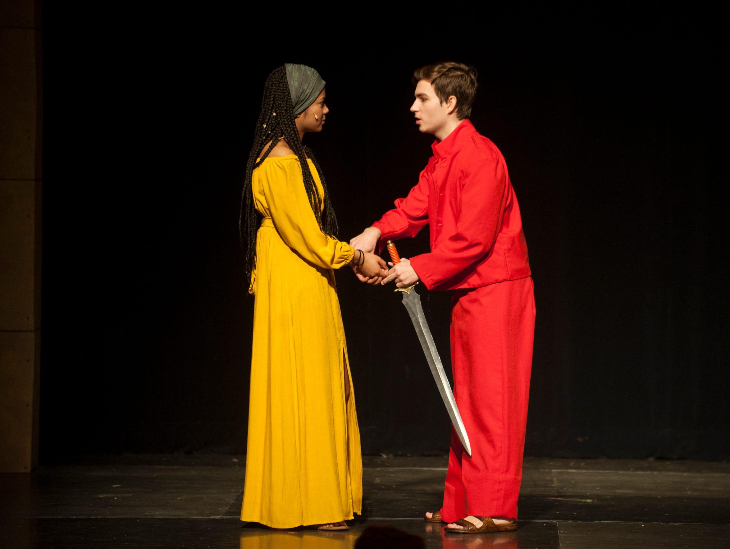 Lenape senior Jaelyn Alexander (left) plays the role