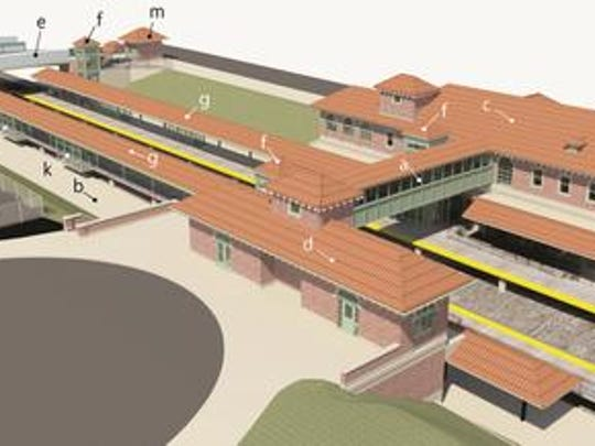 Rendering of renovations and improvements planned for the Perth Amboy Railroad Station.