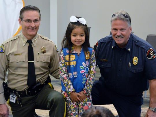 Girl Scout Daisy Savanah Padilla donated Girl Scout