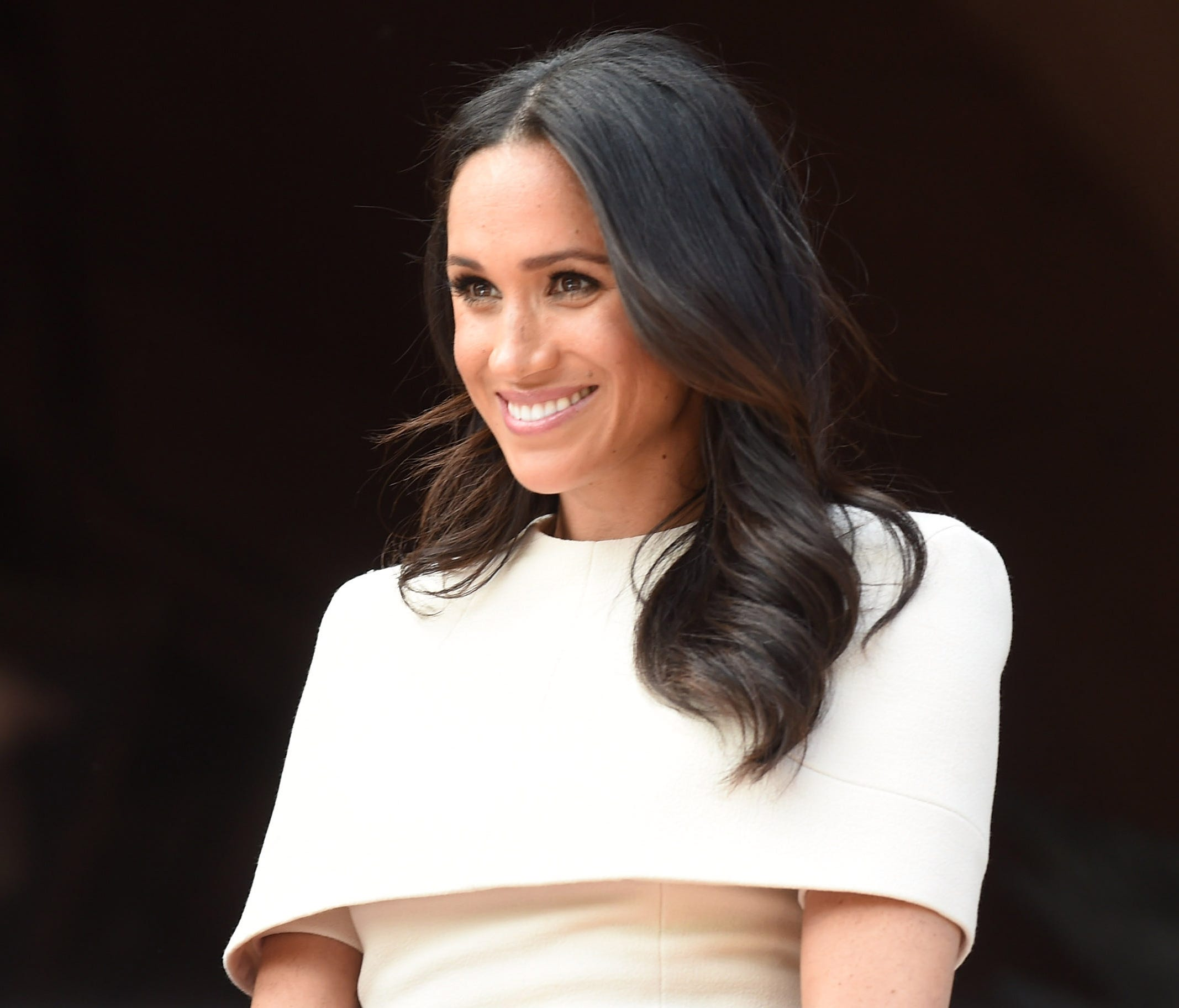 CHESTER, ENGLAND - JUNE 14:  Meghan, Duchess of Sussex and Queen Elizabeth II (not pictured) visit Chester Town Hall on June 14, 2018 in Chester, England. Meghan Markle married Prince Harry last month to become The Duchess of Sussex and this is her f