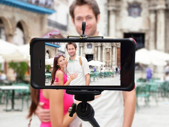 The Monopod from iStabilizer can be extended three feet.