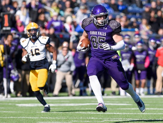 University of Sioux Falls tight end Nicholas Stanke