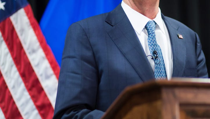 FILE PHOTO - USSecretary of Defense Ashton Carterdelivers a statement to the press following the meeting of the alliance of Defense Ministers in the fight against the terrorist organization Islamic State (IS), in Stuttgart,Germany, May 2016.