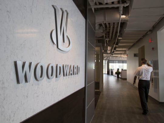 Woodward's new headquarters building in Fort Collins Friday, June 3, 2016. The building repurposed wood from trees that were cut down to make space for the building as steps, walls and more.